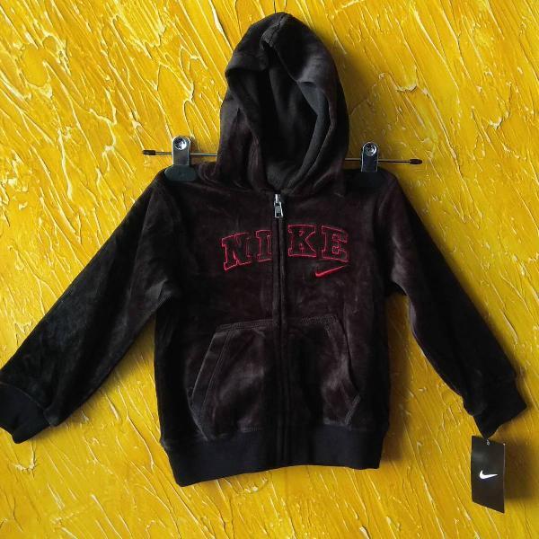 Jaqueta infantil de veludo ,com capuz , importada marca nike