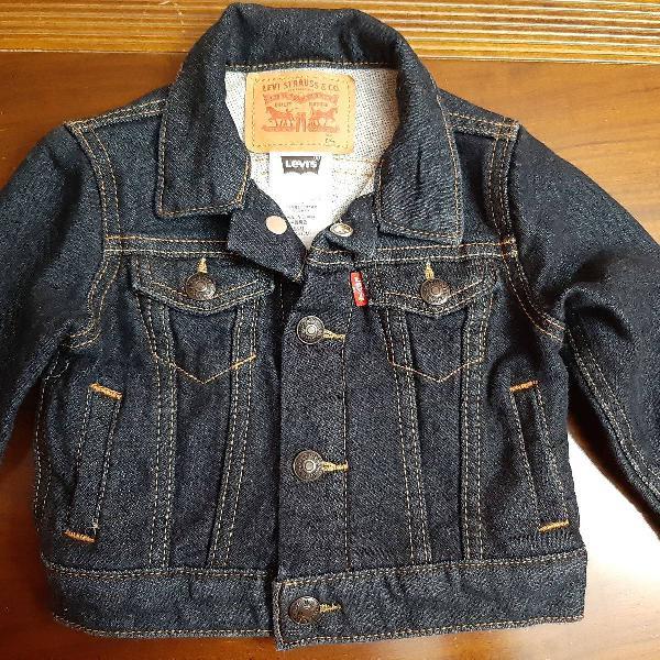 Jaqueta levi's jeans de bebê nova