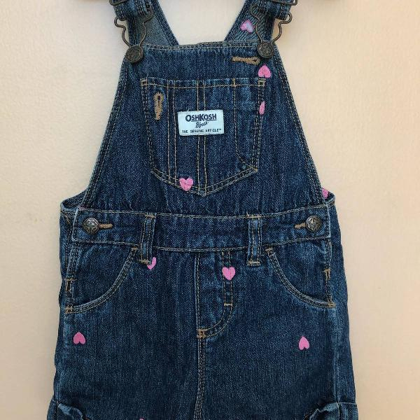 Jardineira jeans oshkosh