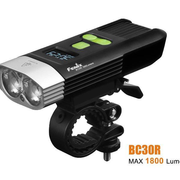 Lanterna farol fenix bc30r 1800 lumens recarregável bike