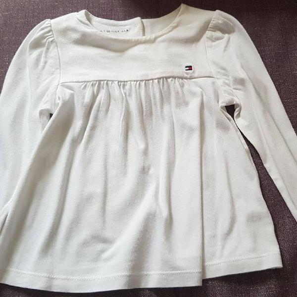 Lote 2 blusas / batas tommy hilfiger bebê menina