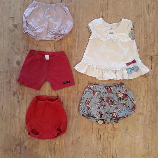 Lote roupas tam 1-2 anos