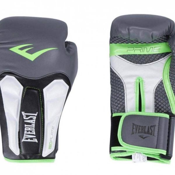 Luva boxe elite prime everlast preta com verde | 14 oz