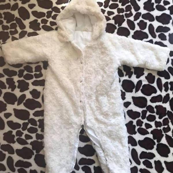 Macacão bebê pelúcia