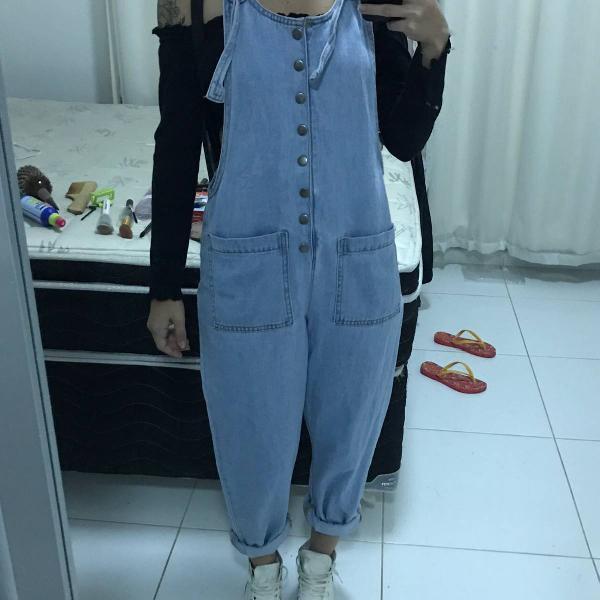 Macacão jeans retrô