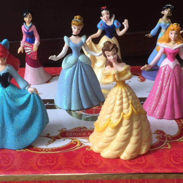 Miniaturas de 7 princesas disney
