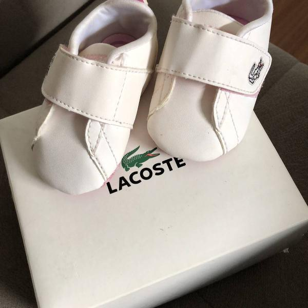 Sapato tenis lacoste bebe