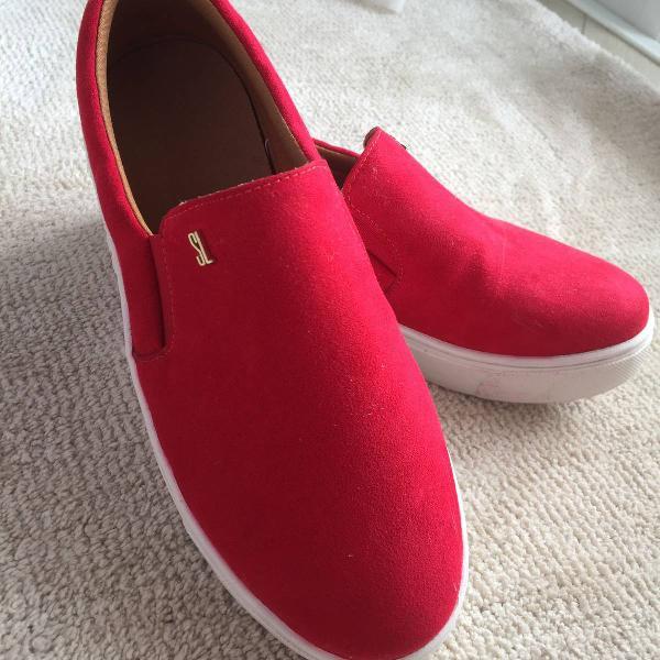 Slip on vermelho