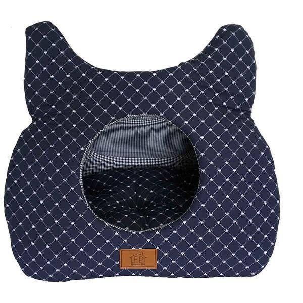 Toca gato azul marinho para cães e gatos