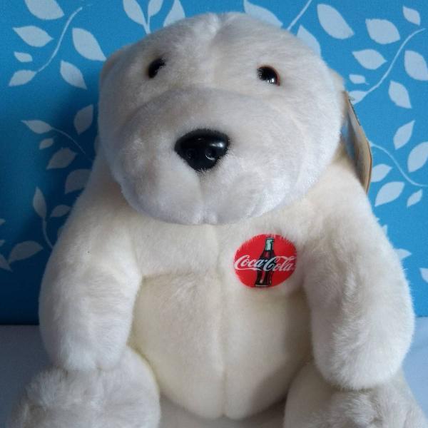 Urso polar pelúcia coca cola