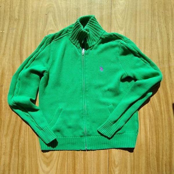 Jaqueta de tricô ralph lauren - m