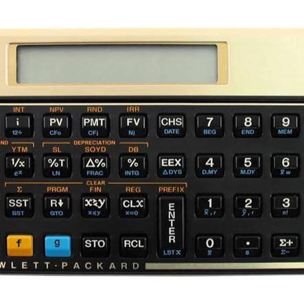 Calculadora financeira hp12c gold