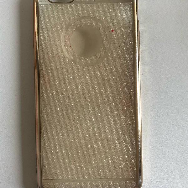 Capinha dourada p/ iphone 6