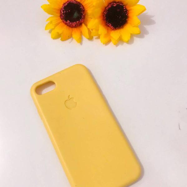 Case silicone iphone 7/8 amarelinha