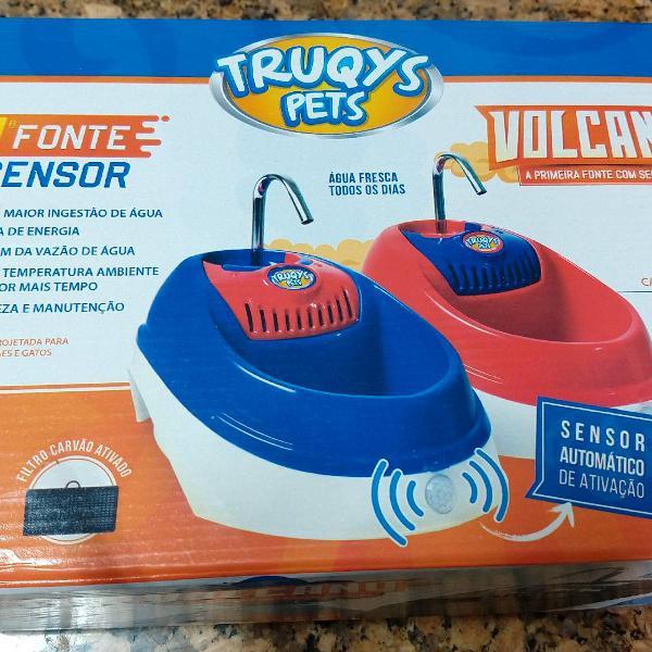 Fonte de água para pets truqys com sensor
