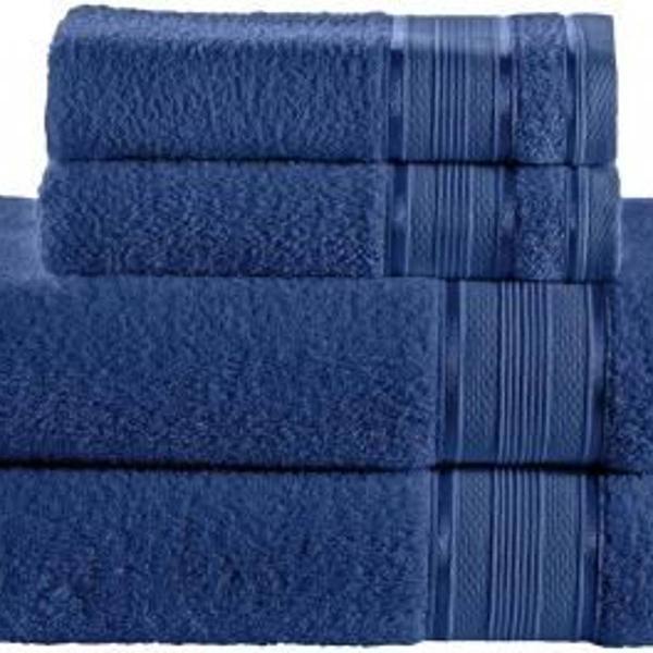 Jogo de toalha 4 peças santista royal knut - 100 algodão
