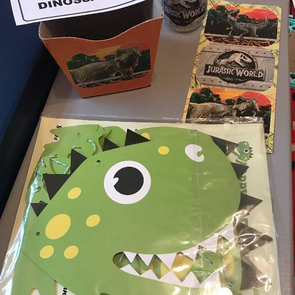 Kit de decoração de festa dinossauros