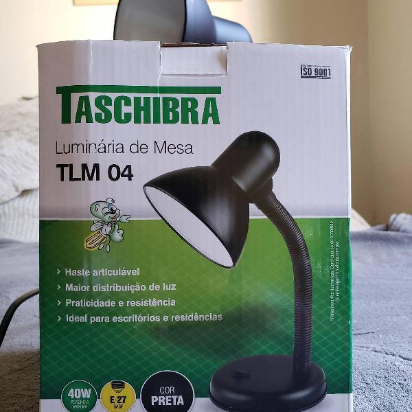 Luminária de mesa taschiba preta