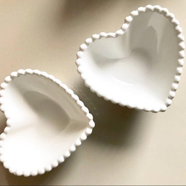 Petisqueira molheira pratinho coração