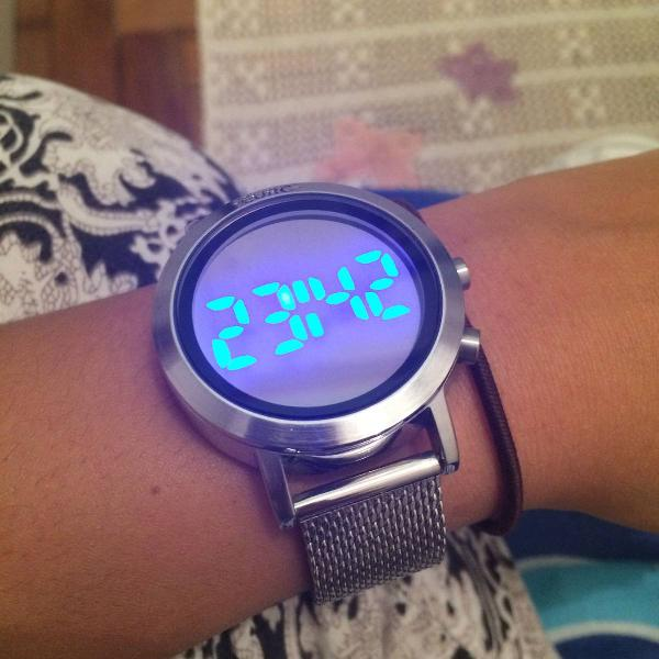 Relógio euro fashion fit prata