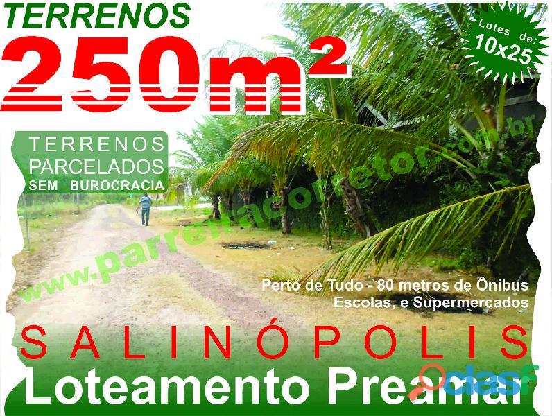 Terrenos e lotes em salinopolis, pa, loteamento com terrenos de 10x25