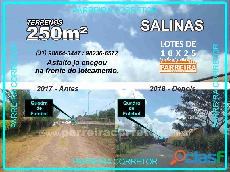 Terrenos e lotes em Salinopolis, PA, Loteamento com terrenos de 10x25 5