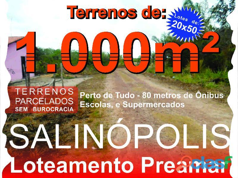 Terrenos e lotes em Salinopolis, PA, Loteamento com terrenos de 10x25 7