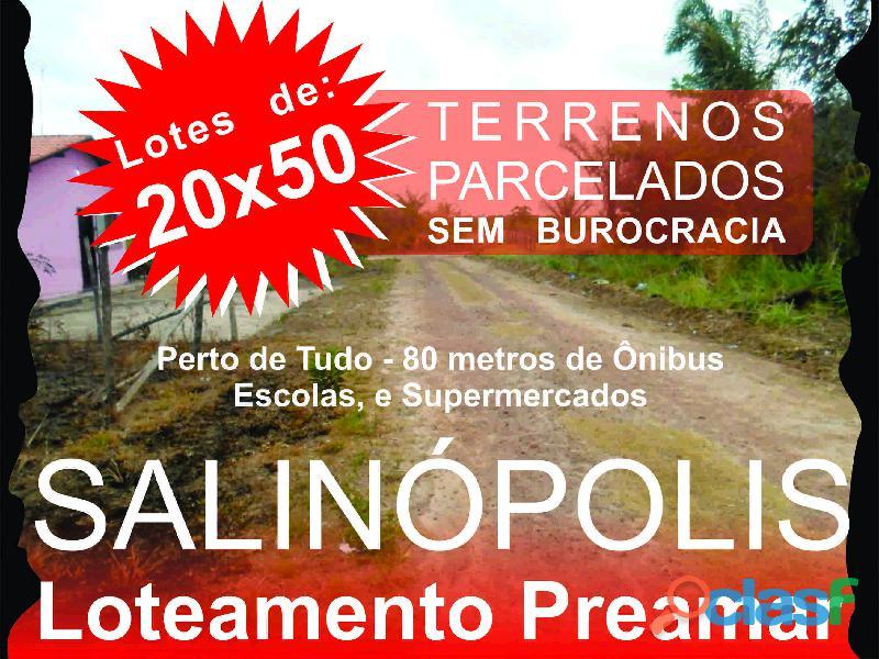 Terrenos e lotes em Salinopolis, PA, Loteamento com terrenos de 10x25 8
