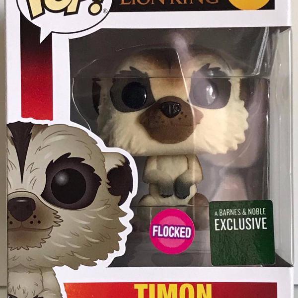 Timon flocked - rei leão - the lion king - funko pop!