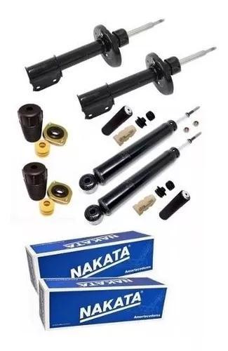 4 amortecedor nakata + kits prisma corsa celta classic 2012