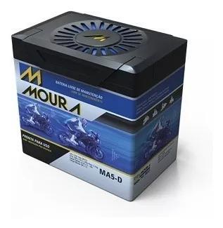 Bateria moura cg titan 150 sport 2005 a 2008 ma5-d 5ah nfe