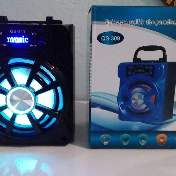 Caixa de som portátil+cabo usb fm,bluetooth e cartão de
