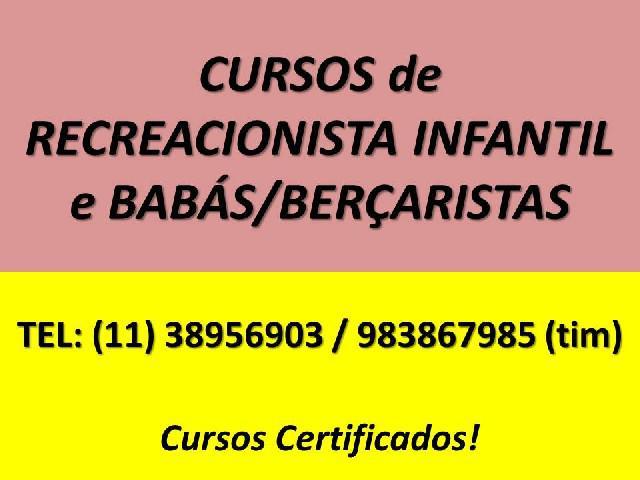Curso de baba bercarista baby sitter certificado