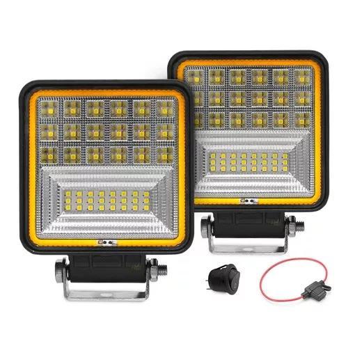 Farol para trator maquina agrícola iluminação led 126w