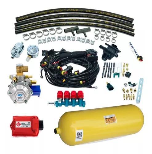 Kit gnv 5 geração completo italiano com cilindro 40l / 10