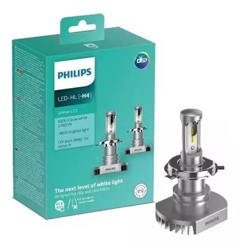 Kit lâmpada philips h4 +160% ultinon led 6200k par