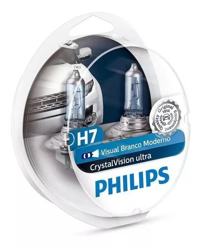 Par lampada philips h7 crystal vision ultra 4300k + pingos