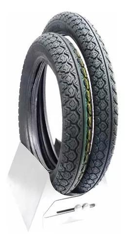 Par pneu dianteiro e traseiro biz 125 150 pop 100 - 0168a