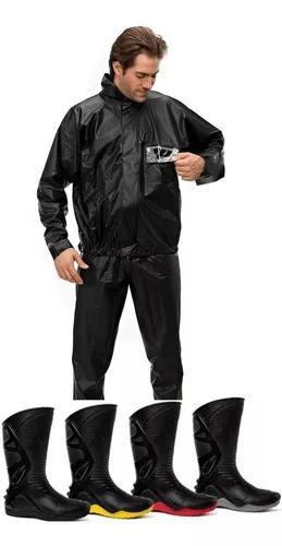 Roupa chuva motociclista pantaneiro c/ gola + bota motosafe