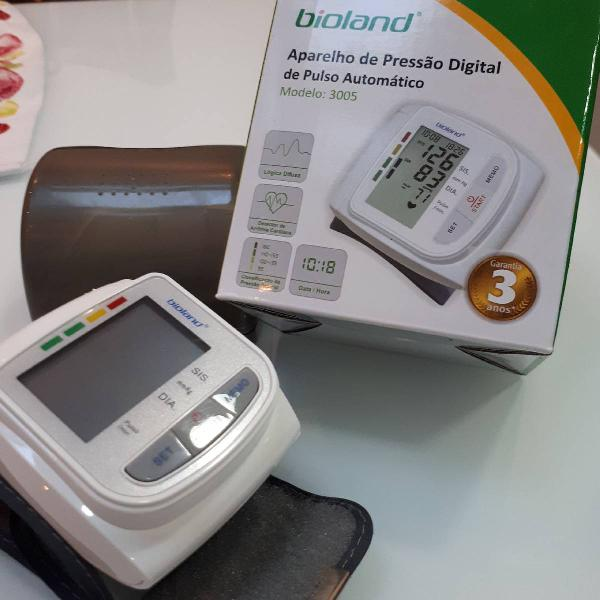 Aparelho de pressão digital pulso automático