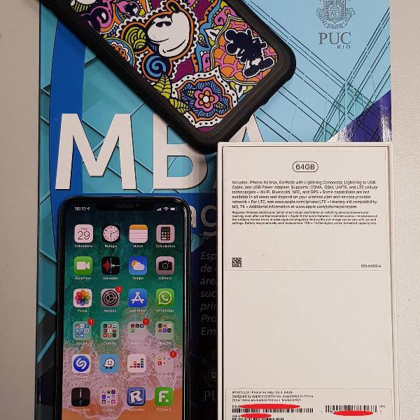 Apple iphone xs max gold 64gb original desbloqueado nf