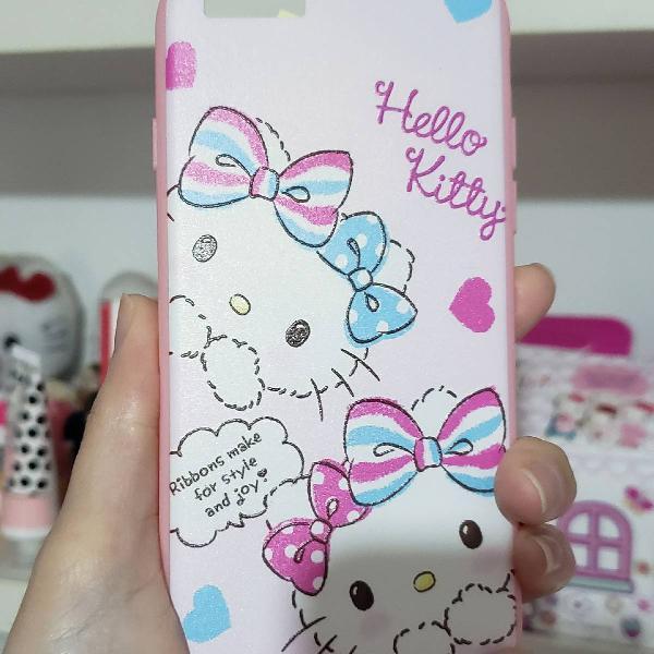 Case para iphone 6 hello kitty rosa