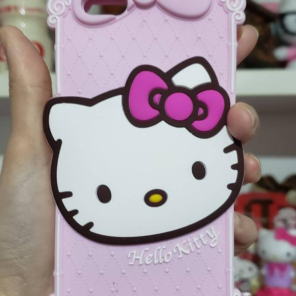 Case para iphone 6s hello kitty rosa silicone