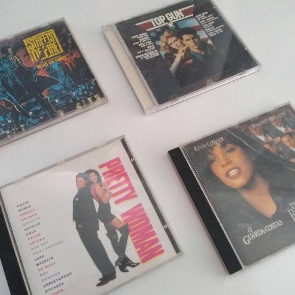 Coleção de cds de trilhas sonoras de clássicos do cinema