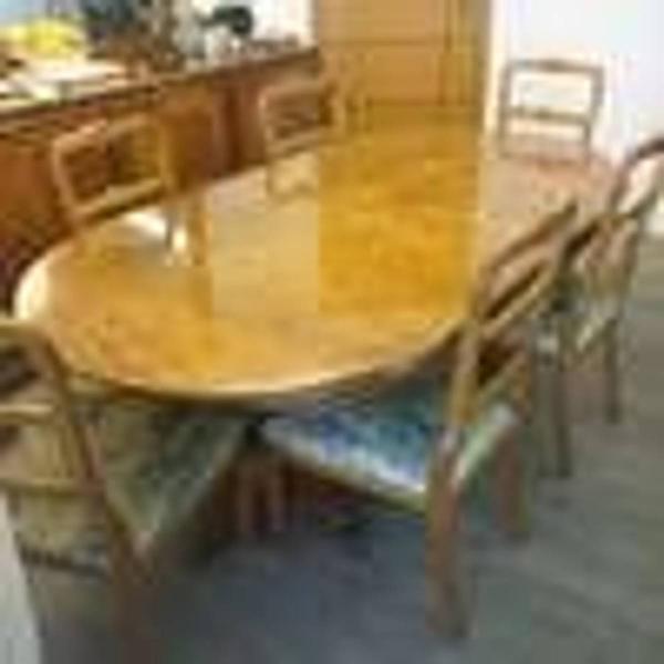 Conjunto buffet mesa cadeiras
