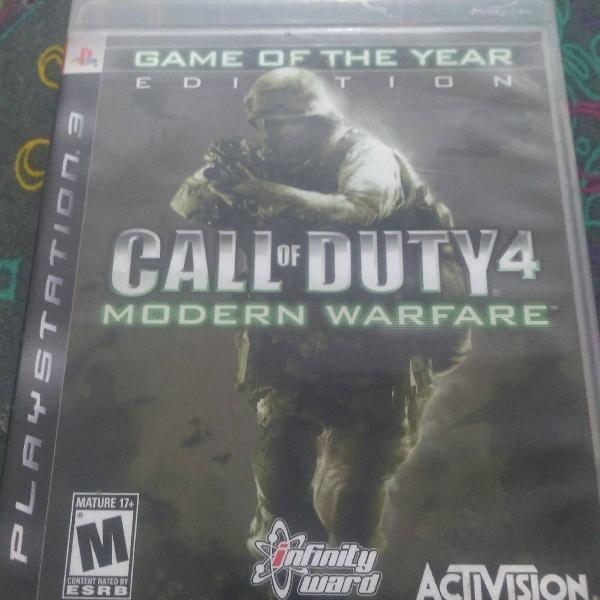 Jogo call of duty 4 modern warfare ps3