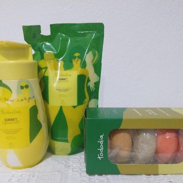 Kit hidratante sorbet refrescante natura com refil e