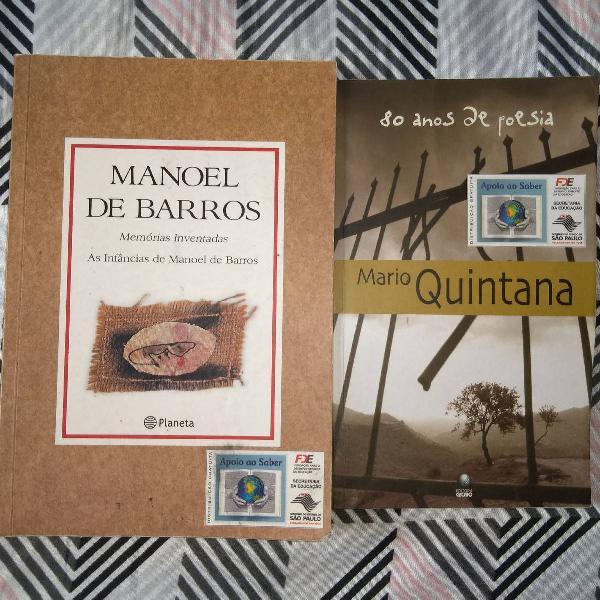 Livros: mário quintana e manoel de barros