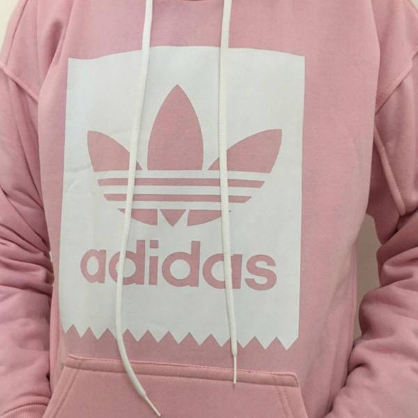 Moletom canguru adidas rosa
