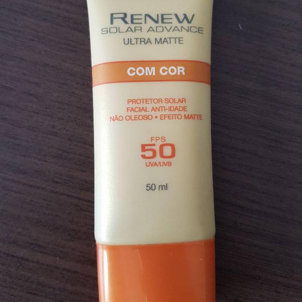 Protetor solar facial anti-idade